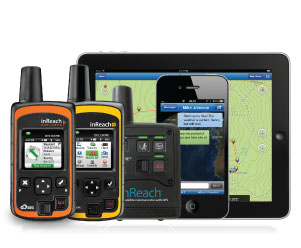 inReach™ Satellite Messenger with Smartphones and a Tablet.